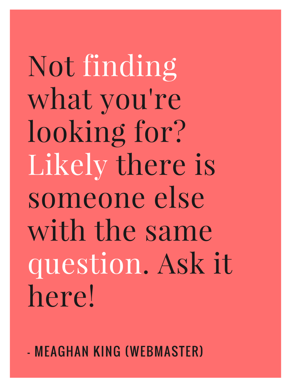 NO Finding what you re looking for?
